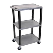 "Offex 42"" Tuffy A/V Cart with 3 Shelf, Electric, Gray/Black Leg (OF-WT42GYE-B)"