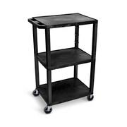 """Offex 42""""H Tuffy AV Cart with 3 Shelf, Electric, Black Shelves/Black Legs (OF-WT42E)"""