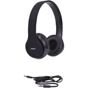 2BOOM HPM340K  Spin Master Rubberized DJ Headphones with Microphone (Black)