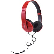 2BOOM HPM520R         Solo Note Headphones with Microphone (Red)