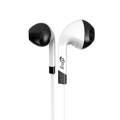 iFrogz InTone Earbuds with Microphone, White (IF-ITN-WHT)