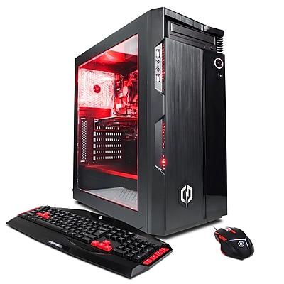 CyberPowerPC Gamer Ultra GUA600 Computer (AMD FX-6300 processor, 16GB DDR3 SDRAM, 2TB, NVIDIA GeForce GTX 1050 Ti)