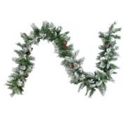 "Northlight 9' x 10"" Flocked Angel Pine with Pine Cones Artificial Christmas Garland, Unlit (32620417)"