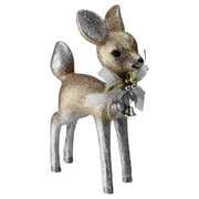 "Northlight 9.5"" Gilded White Christmas Glitter Standing Deer Christmas Decoration (32621868)"
