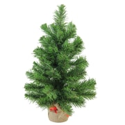 "Northlight 18"" Mini Pine Artificial Christmas Tree in Burlap Base, Unlit (32614946)"