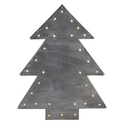 "Northlight 17"" Small Lighted Grey Tree Christmas Table Top Decoration (32621849)"