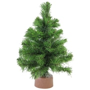 "Northlight 12"" Mini Pine Artificial Christmas Tree in Faux Wood Base, Unlit (32614947)"
