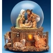 Roman Fontanini Musical Lighted Nativity Stable Scene Christmas Glitterdome (11130658)