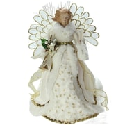 "Northlight 14"" Lighted B/O Fiber Optic Angel in Cream and Gold Gown Christmas Tree Topper (32606678)"