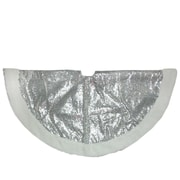 "Northlight 47.2"" Winter's Beauty Sparkling Silver and White Christmas Tree Skirt (32606242)"