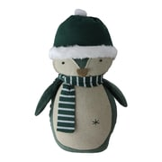 "Northlight 10.25"" Green and Neutral Decorative Penguin with a Scarf Tabletop Decoration (32618635)"
