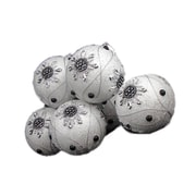 "December Diamonds 6 December Diamonds White Snowflake Shatterproof Christmas Ball Ornaments, 3.75"" (30655139)"