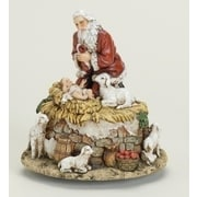 "Roman 6 ""Joseph's Studio Kneeling Santa with Jesus Musical Christmas Figure (6535323)"