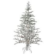 northlight 5 pre lit flocked alpine coral artificial christmas tree warm white lights - White Christmas Tree Walmart