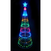Northlight 9' Multi-Color LED Light Show Cone Christmas Tree Lighted Yard Art Decoration (32605217)