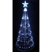 Northlight 9' Pure White LED Light Show Cone Christmas Tree Lighted Yard Art Decoration (32605220)