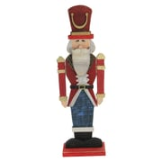 """Northlight 21"""" Red and Blue Painted Wooden Standing LED Decorative Nutcracker (32618602)"""