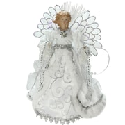 "Northlight 13"" Lighted B/O Fiber Optic Angel with White Gown Christmas Tree Topper (32606672)"