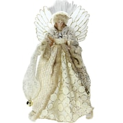 "Northlight 16"" Lighted B/O Fiber Optic Angel in Golden Sequined Gown Christmas Tree Topper (32606680)"