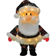 "Roman 24"" Green  Tan and Black Lighted Candy Cane Lane Camouflage Santa Christmas Decoration (31465876)"