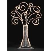 "Roman 48"" Pre-Lit White Swirl Rope Light Yard Art Christmas Tree (15618594)"