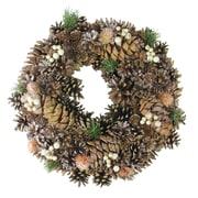"Northlight 15"" Autumn Foliage Pine Cone Artificial Thanksgiving Wreath, Unlit (32621860)"