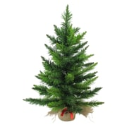 "Northlight 24"" Mini Balsam Pine Artificial Christmas Tree in Burlap Base, Unlit (32614772)"