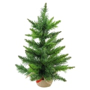 "Northlight 18"" Mini Balsam Pine Artificial Christmas Tree in Burlap Base, Unlit (32614950)"