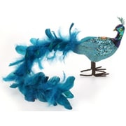 "Mark Roberts 24"" Regal Peacock Flowing Bondi Blue Closed-Tail Bird Christmas Table Top Decoration (31460001)"