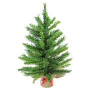 "Northlight 24"" Mixed Kateson Fir Artificial Christmas Tree in Burlap Base, Unlit (32614771)"