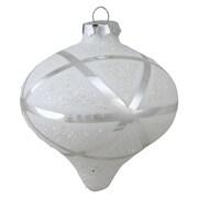 "Northlight 5"" Winter's Beauty Geometric Glass Christmas Onion Ornament (32621872)"