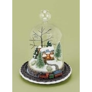 "Roman 8"" LED Lighted Rotating Train and Winter Scene Christmas Table Top Decoration (31466915)"