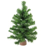 "Northlight 18"" Mini Pine Artificial Christmas Tree in Faux Wood Base, Unlit (32614948)"