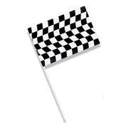 Creative Converting Black and White Check Plastic Flag (010546810)
