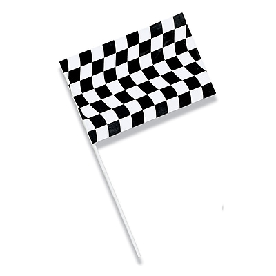 Creative Converting Black and White Check Plastic Flag (010546810)