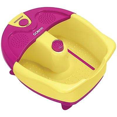 Conair - Sassy Feet™ Foot Bath with Vibration, Heat and Pedicure Set - Yellow FB333