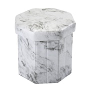 Simplify Collapsible Storage Ottoman, Octagon Marble Print, (F-0659-MARBLE)
