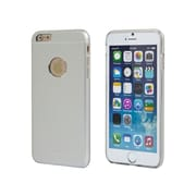 """Monoprice Metal Alloy Protective Case for 5.5"""" iPhone 6 Plus and 6s Plus Silver (112397)"""
