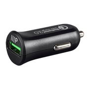 Monoprice Obsidian Series USB Smart Car Charger with Qualcomm Quick Charge 3.0 Technology (121675)