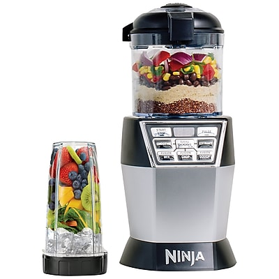 Ninja 24 oz. Refurbished Nutri Bowl Duo, Black/Stainless Steel (NN102-RB)