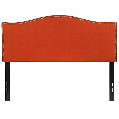 "Flash Furniture Lexington Full Headboard Fabric, 56.75""W x 2""D x 42.75"" - 55.25""H, Orange (HGHB1707FO)"