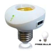 NYCE Power Lampcharger with Short Height LED Bulb, White (NYCEP3)