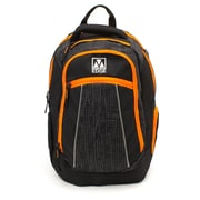 M-Edge Commuter Backpack w/Battery, Black/Orange (BPK-CO6-PO-BO)