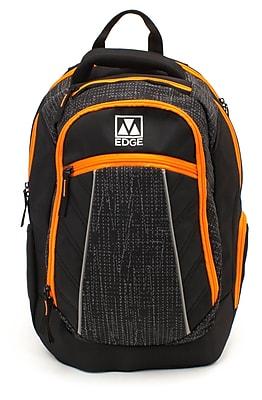 M-Edge Commuter Backpack w/Battery, Black/Orange (BPK-CO6-PO-BO)
