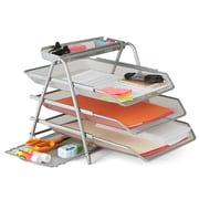 Mind Reader 3TFILE-SIL Metal Mesh 3 Tier File Tray, Silver