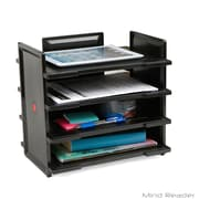 Mind Reader FLEXT4-BLK 4 Tier Desktop Document and Folder Tray Organizer, Black