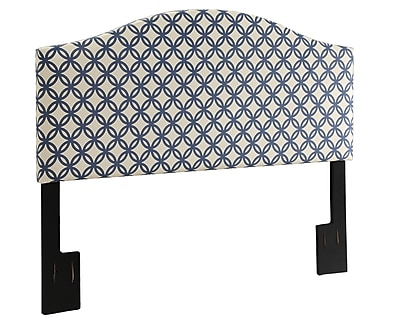 "Right2Home Queen Upholstered Headboard, 65""W x 58""H, Silver (DS-2280-250-QN)"