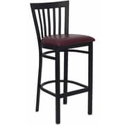 Offex Black School House Back Metal Restaurant Barstool, Burgundy Vinyl Seat (OF-XU-B-BAR-B-G)