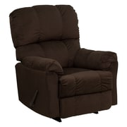 Offex Contemporary Top Hat Chocolate Microfiber Rocker Recliner (OF-AM-9320-4171)