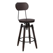 """Right2Home Side Table, Medium Wood, 20""""L x 14.02""""W x 22.01""""H (DS-D153-005)"""